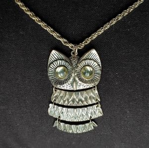 Vintage 70s style owl necklace